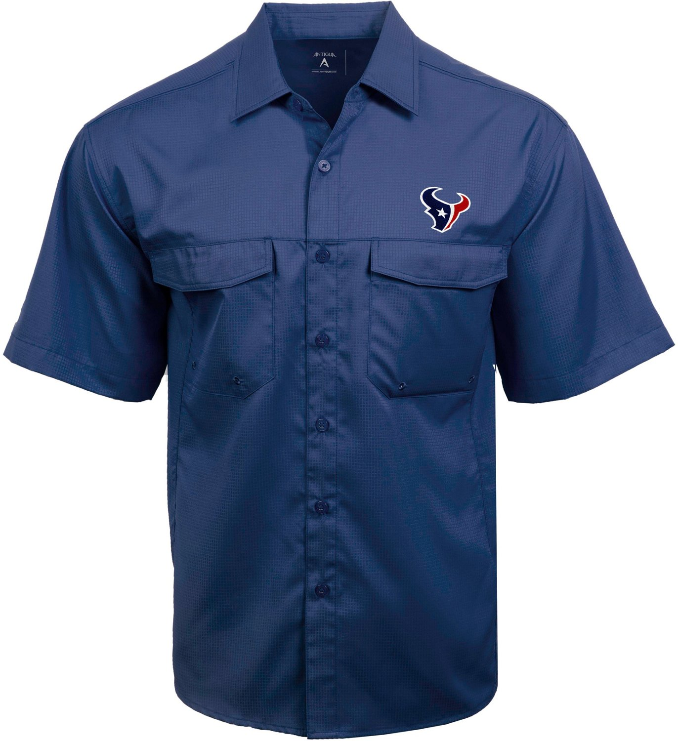 the latest 7be56 093ed Antigua Men's Houston Texans Game Day Woven Fishing Shirt