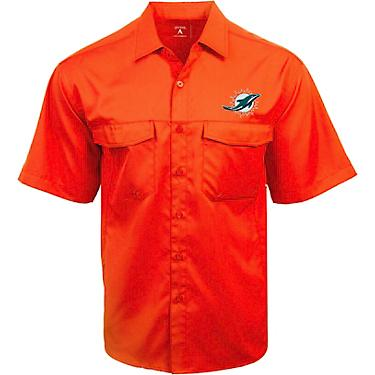 new concept d7ccc f06af Antigua Men's Miami Dolphins Game Day Woven Fishing Shirt