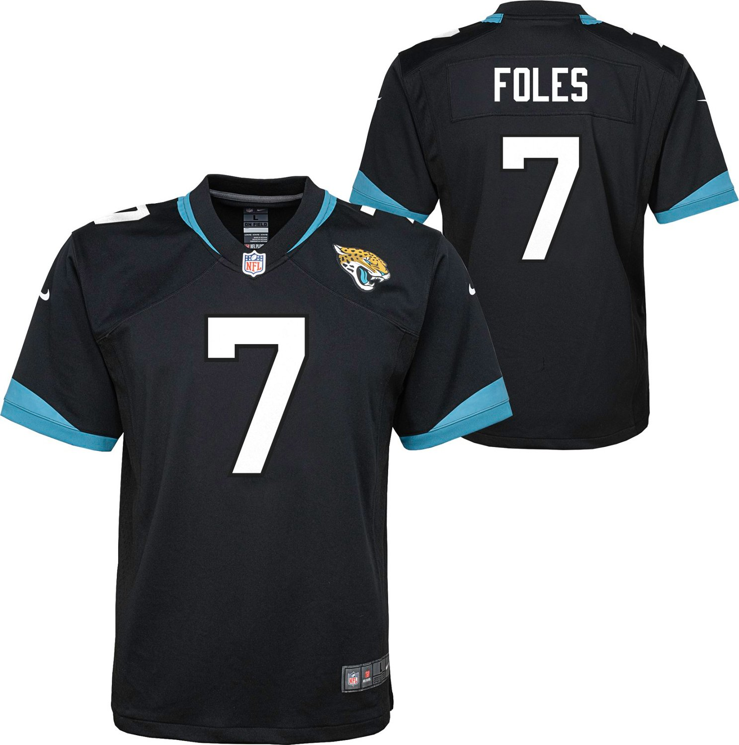 the latest d9800 c5fe5 Nike Boys' Jacksonville Jaguars Nick Foles 7 Game Jersey