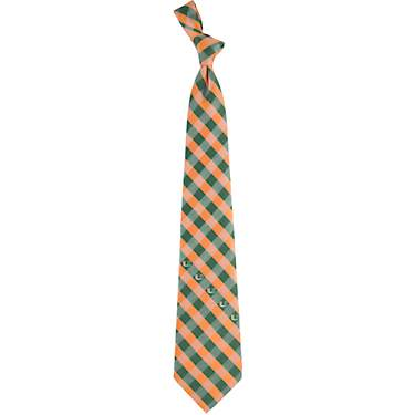 Eagles Wings Men's University of Miami Check Necktie