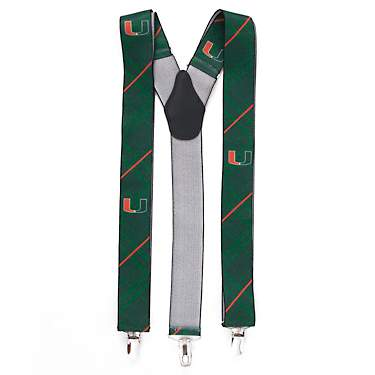 Eagles Wings Men's University of Miami Oxford Suspenders