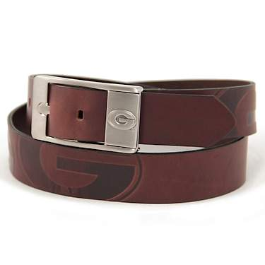 Eagles Wings Men's University of Georgia Brandish Leather Belt