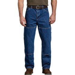 Men's Relaxed Fit Double Knee Carpenter Denim Jeans