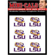 WinCraft Louisiana State University Mini-Cal Repositionable Face Decals 6-Pack