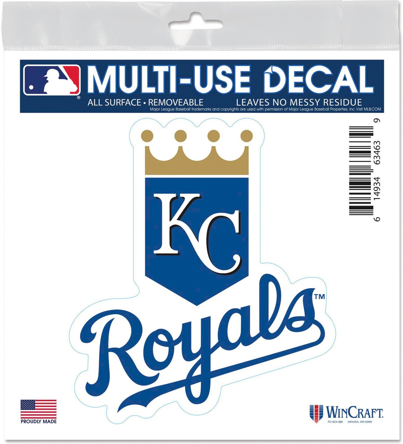 WinCraft Kansas City Royals 6 in x 6 in Multiuse Decal