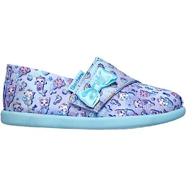 lowest discount amazon pretty cool SKECHERS Girls' Lil Bobs Solestice 2.0 Mermaid Cat Casual Flats