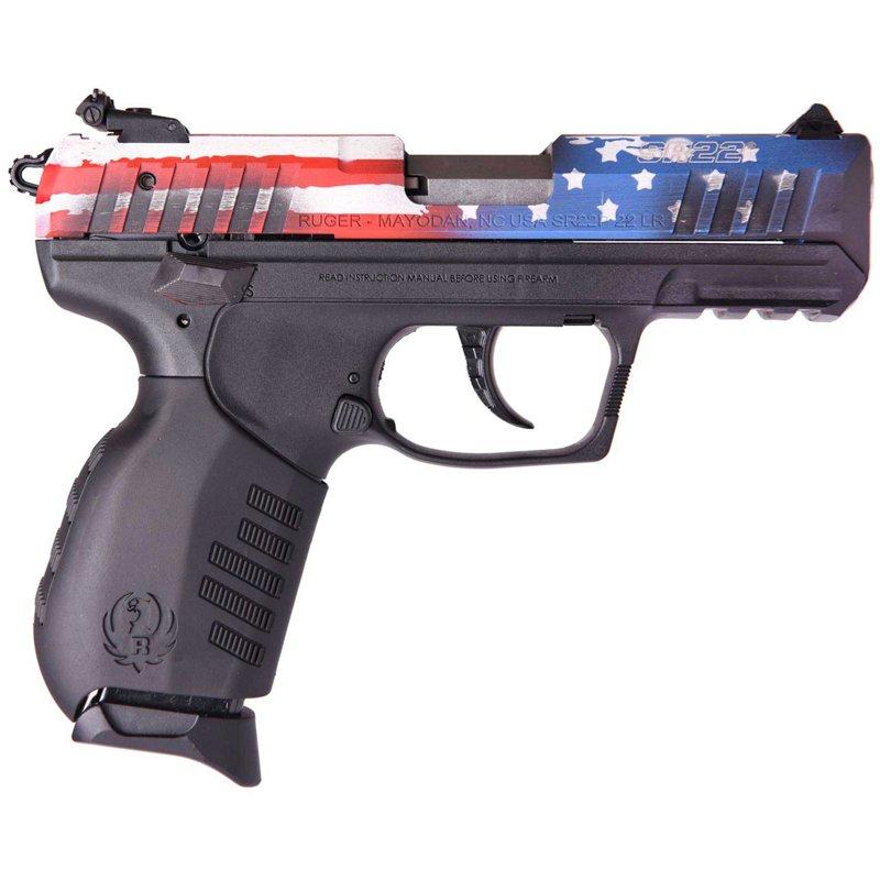 Ruger SR-22 US Flag .22 LR Pistol – Handgun Semiauto Rmfire at Academy Sports