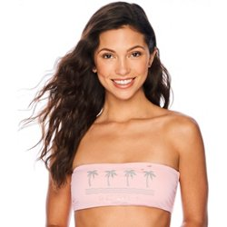 Women's Vintage Beach Solid Bandeau Swim Top