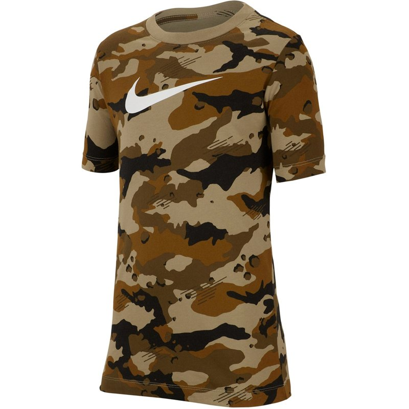 Nike Boys' Sportswear Camo T-Shirt Neutral O/White, Large – Boy's Athletic Tops at Academy Sports