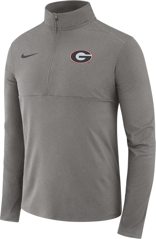 Half University Georgia Men's Sleeve Nike of Core Shirt Zip Long Yf76bvgy