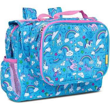 Bixbee Kids' Unicorn Rainbow Backpack and Lunch Box