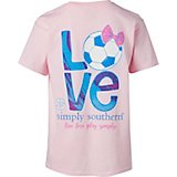 Simply Southern Girls' Soccer Graphic T-shirt