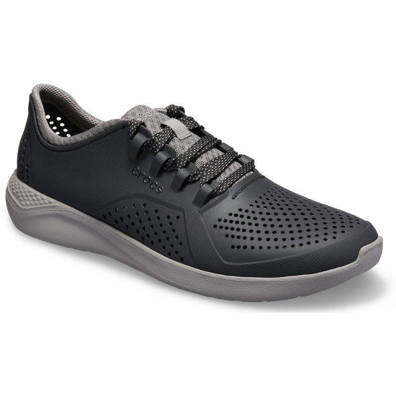 Crocs Men's LiteRide Pacer Shoes Black/Dark Grey, 13 - Men's Casual at Academy Sports