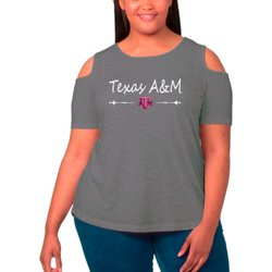 Women's Texas A&M University Cold Shoulder Plus Size T-shirt