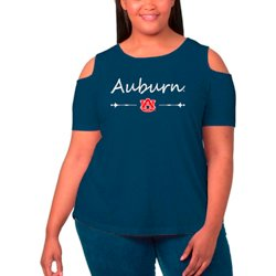Women's Auburn University Cold Shoulder Plus Size T-shirt
