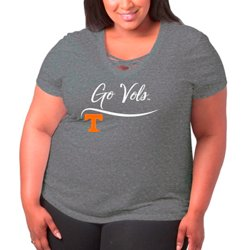 Women's University of Tennessee Caged Front Plus Size T-shirt