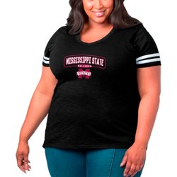 Women's Mississippi State University Arched Over Plus Size Sporty Slub T-shirt