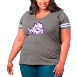 Women's Texas Christian University Primary Logo Plus Size Sporty Slub T-shirt