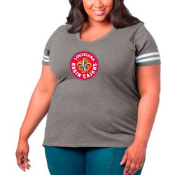 Women's University of Louisiana at Lafayette Primary Logo Plus Size Sporty Slub T-shirt