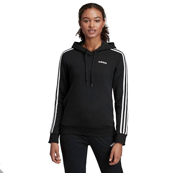 Adidas Women's Essentials 3 Stripes Fleece Hoodie