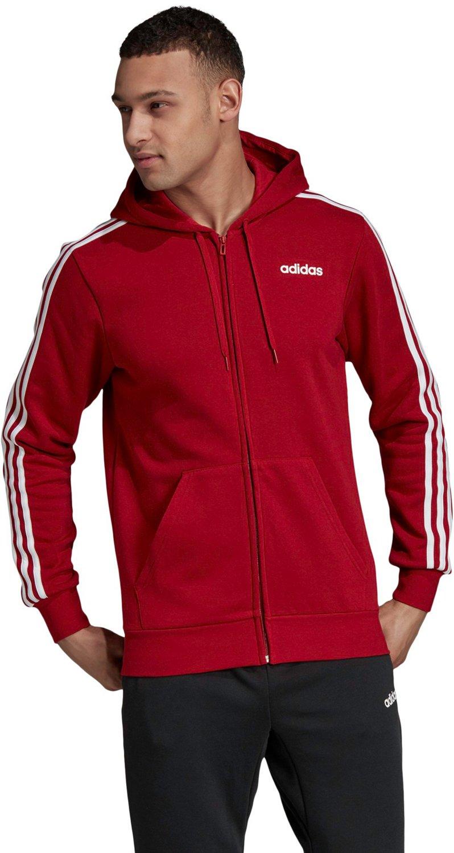 NEW MEN'S ADIDAS Sport Essentials 3 Stripes Fleece Hoodie