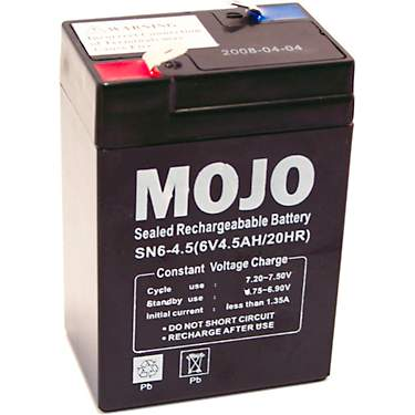 MOJO Outdoors UB645 6-Volt Rechargeable Battery