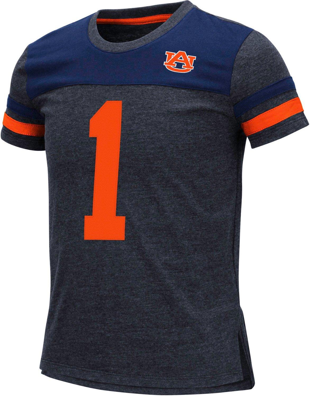 quality design a25c2 d0d03 Colosseum Athletics Girls' Auburn University Mink T-shirt