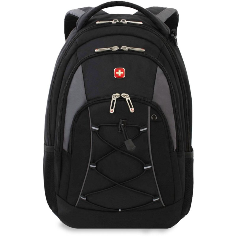 SwissGear 18 in Laptop Backpack Black/Gray - Backpacks at Academy Sports