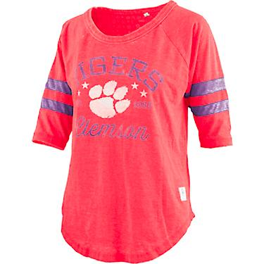 the best attitude 94af8 c92c4 Three Square Women's Clemson University Jade Vintage Jersey 3/4 Sleeve  T-shirt