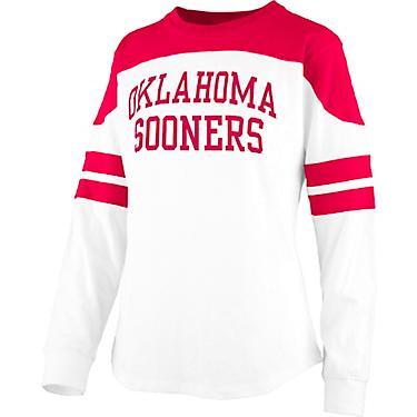 factory authentic b115c 2c5ac Three Square Women's University of Oklahoma Half Back Jersey Long Sleeve  T-shirt