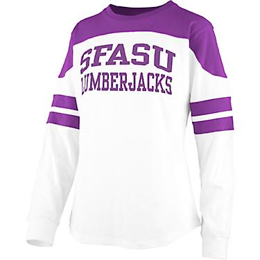 big sale 67527 a5c7a Three Square Women's Stephen F. Austin State University Half Back Jersey  Long Sleeve T-shirt