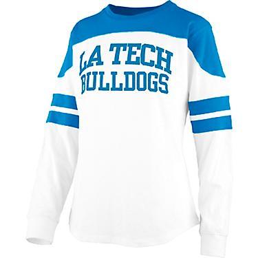 new concept ad345 d6a02 Three Square Women's Louisiana Tech University Half Back Jersey Long Sleeve  T-shirt