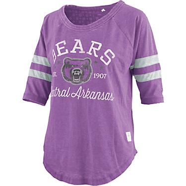 official photos 4a4fa a68a7 Three Square Central Arkansas Bears Women's Jade Vintage Jersey 3/4 T-shirt