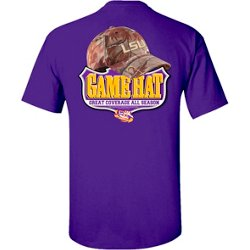Men's Louisiana State University Camo Hat T-shirt