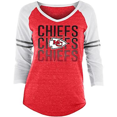 best loved 2de0e a5010 5th & Ocean Clothing Women's Kansas City Chiefs Triblend 3/4 Sleeve T-shirt