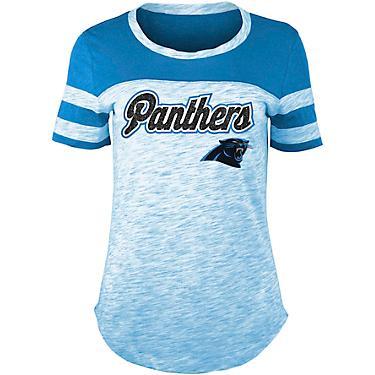 37a3f610 5th & Ocean Clothing Women's Carolina Panthers Space Dye T-shirt