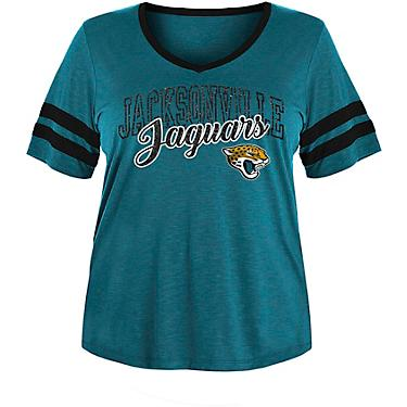 hot sale online 0cc5b 6bfd1 5th & Ocean Clothing Women's Jacksonville Jaguars Slub Plus Size T-shirt