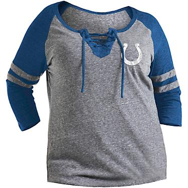 newest collection a11f1 face9 5th & Ocean Clothing Women's Indianapolis Colts Plus Size Lace-Up Jersey