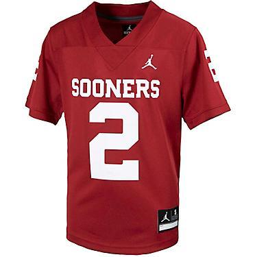 brand new 8536d 17178 Jordan Boys' University of Oklahoma Young Athletes Replica Football Jersey
