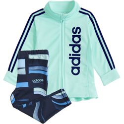 adidas Girls' Linear Graphic Jacket and Printed Tights Set