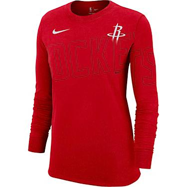 best sneakers 45064 f6b68 Nike Women's Houston Rockets Dri-FIT Wordmark Long Sleeve T-shirt