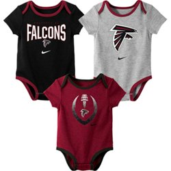 Infants' Atlanta Falcons Nowstalgic Icon Creepers 3-Pack