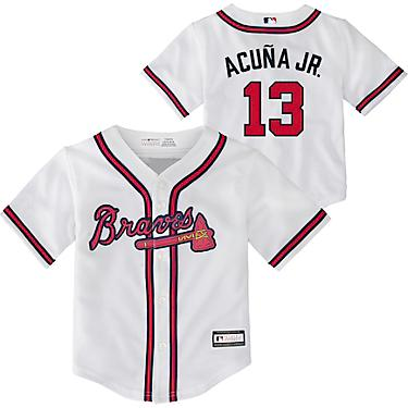 new concept f3c70 6107c MLB Toddler Boys' Atlanta Braves Home Replica Jersey
