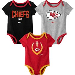 Infants' Kansas City Chiefs Nowstalgic Icon Creepers 3-Pack