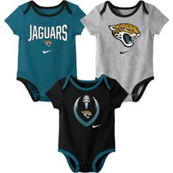 Infants' Jacksonville Jaguars Nowstalgic Icon Creepers 3-Pack