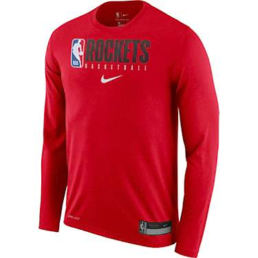 Nike Men's Houston Rockets Dri-FIT Practice Graphic Long Sleeve T-shirt