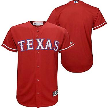 info for 15476 4f4f8 Majestic Boys' Texas Rangers Alt2 Replica Jersey