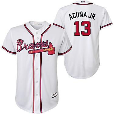 finest selection ee991 6ddc6 MLB Boys' 4-7 Atlanta Braves Home Sanitized Replica Jersey