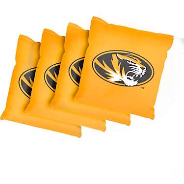 Victory Tailgate University of Missouri Cornhole Replacement Bean Bags 4-Pack