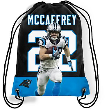 quality design d76a0 8913b Forever Collectibles Carolina Panthers C. McCaffrey No. 22 Player  Drawstring Backpack